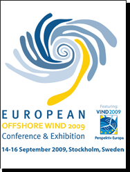 Proceedings of the European Offshore Wind 2009 Conference & Exhibition